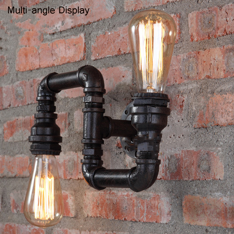Americano lâmpadas criativas retro loft luzes da