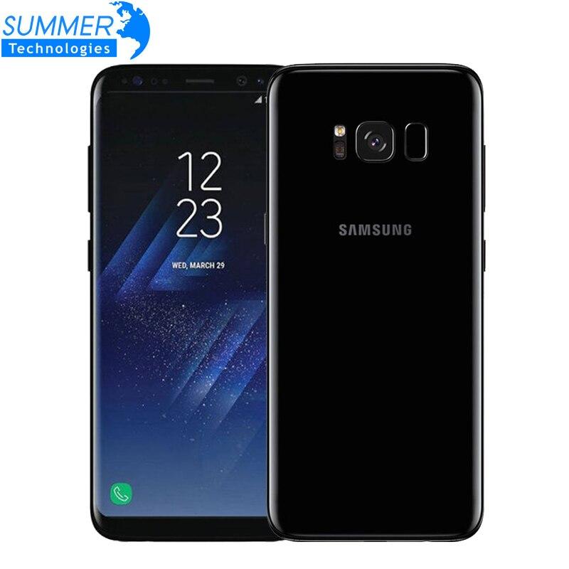 Оригинальный samsung Galaxy S8 плюс 4G LTE Мобильного Телефона Octa Core 6,2 12.0MP 4G RAM 64g ROM смартфон с отпечатками пальцев