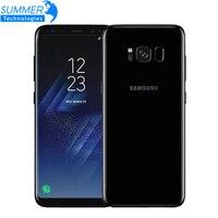 Разблокированный Мобильный телефон samsung Galaxy S8 Plus, 4G LTE, четыре ядра, 6,2 дюймов, МП, 4 Гб ram, 64 ГБ rom, смартфон с отпечатком пальца