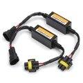 2 Unids H11 Coche Led Faros de Niebla Lámparas Load Resistor Advertencia Condensador de la Canceladora de Canbus Free Error Decodificadores Adaptador De Arnés de cableado