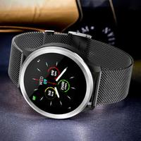 E18 ECG PPG Smart Watch IP68 Waterproof HRV Blood Pressure Heart Rate Monitor Bracelet Metal/ Leather Strap Women Men Smart Band