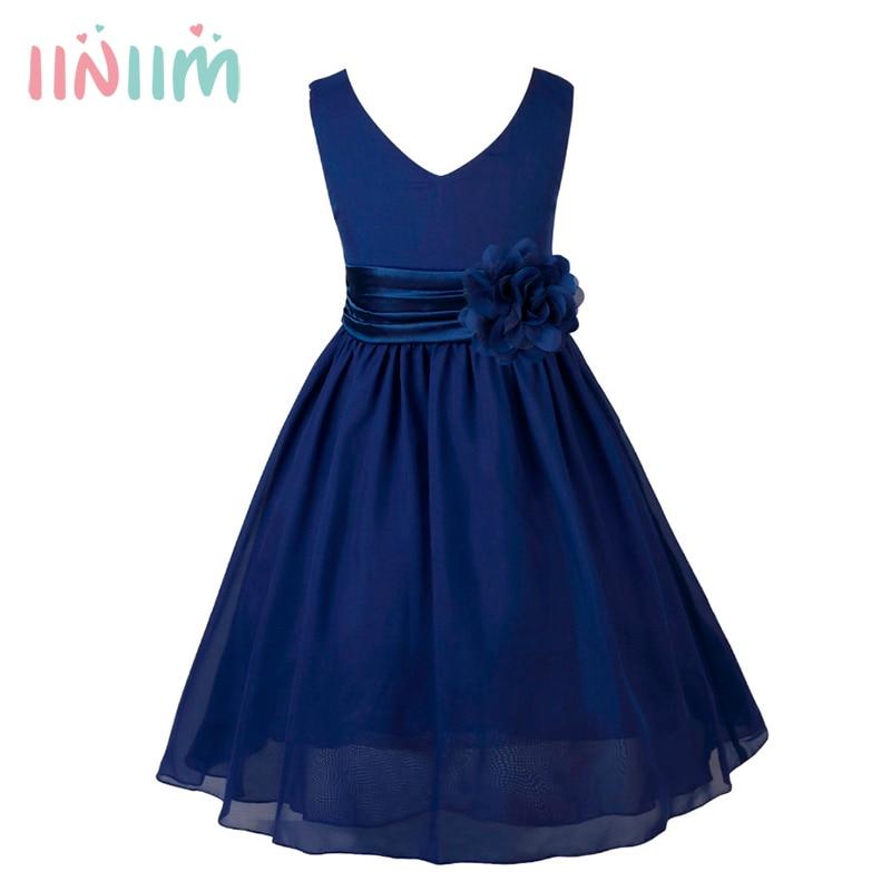 iiniim Girls Formal Dresses Birthday Party Kids Elegant ...