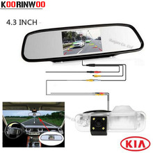 Koorinwoo  Car video Mirror monitor with HD CCD Special Reversing Rear view camera for KIA/Rio Sedan Backup Parking System