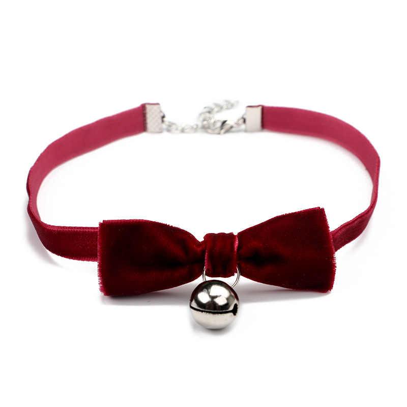 d1d0531cdaae3 Trendy Velvet Choker Necklace Bowknot Bells chocker Handmade Boho Gothic  Costume Jewelry