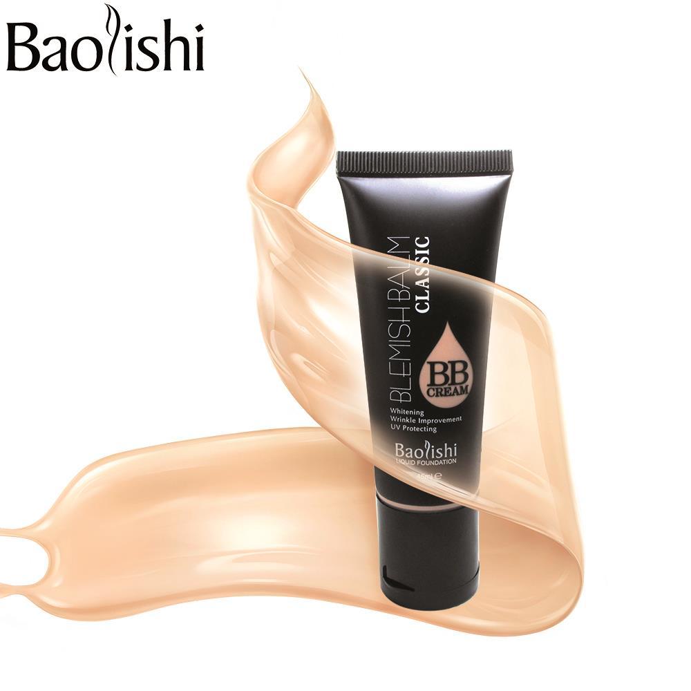 Baolishi 5 Rosto cor de Maquiagem Fundação branqueamento BB Creme Corretivo maquiagem nude Fundação SPF PA 25 ++ proteção UV sol creme
