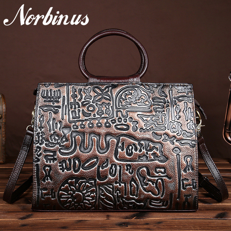 Women Genuine Leather Embossed Handbags High Quality Messenger Bags Vintage Tote First Layer Cowhide Cross Body Shoulder Bag first layer cowhide luxury women messenger bag designer lady satchel purse fashion genuine leather cross body shoulder hobo bags