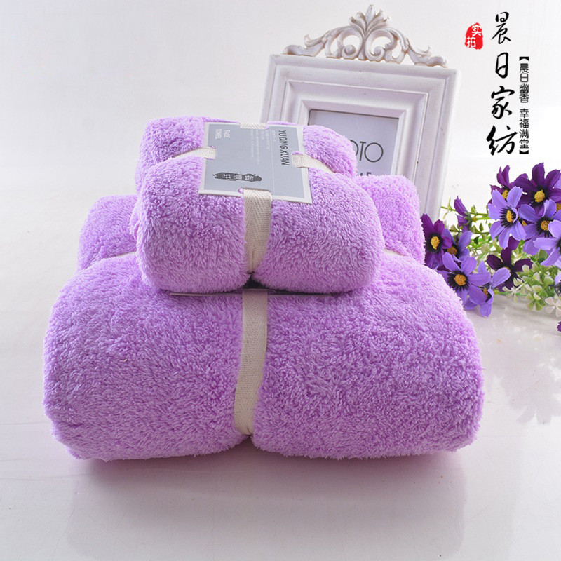 2pcs Microfiber Fabric Baby Towel Sets Plush Bath Face Hand Towel Quick Dry Soft Towels Adult Kids Bath Super Absorbent Towels