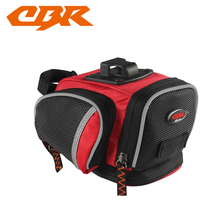 CBR Waterproof Cycling Bag Road Mountain Bike Bag Bicycle Tail Bag Saddle Bag Accessories Back Seat Tail Pouch Package 4 Color