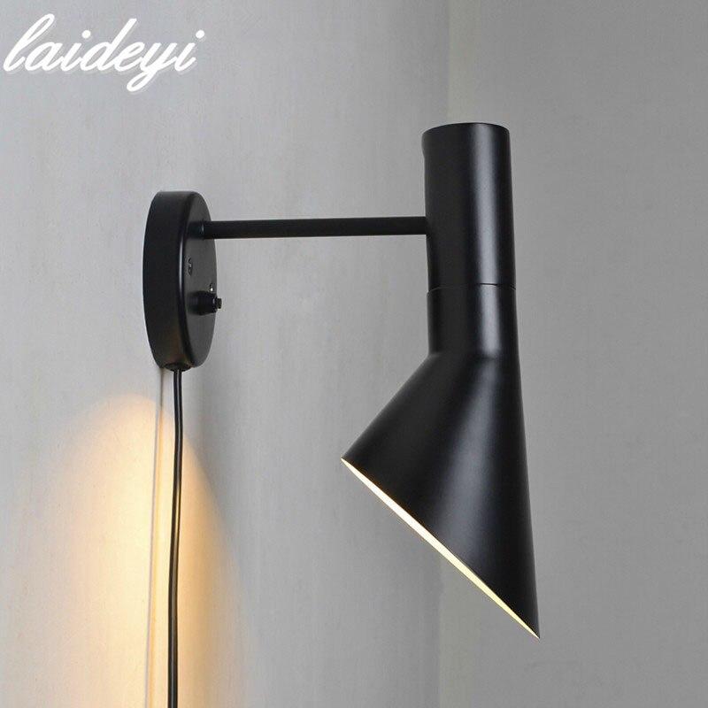 LAIDEYI Modern Sconce Wall lamp Bedside Reading Light Creative Lamp Living Room Foyer Home Lighting Vanity Light Abajur Lamp