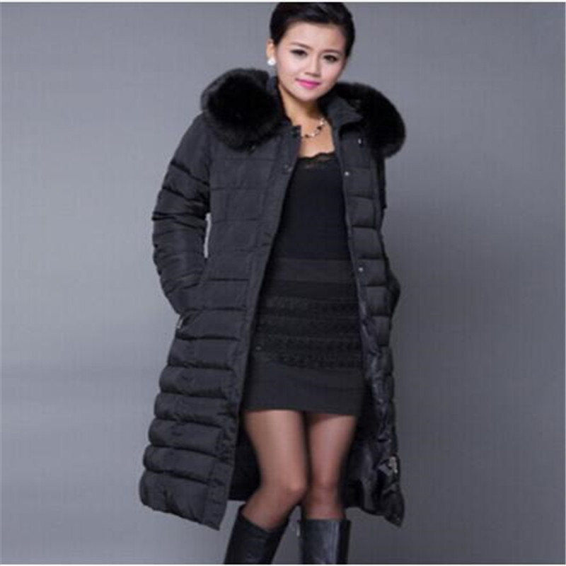 Winter Jacket Women Winter   Coat   Women Plus Size 5XL Long Parka Luxury Fur Cotton-Padded   Down     Coats   Women Wadded Jackets