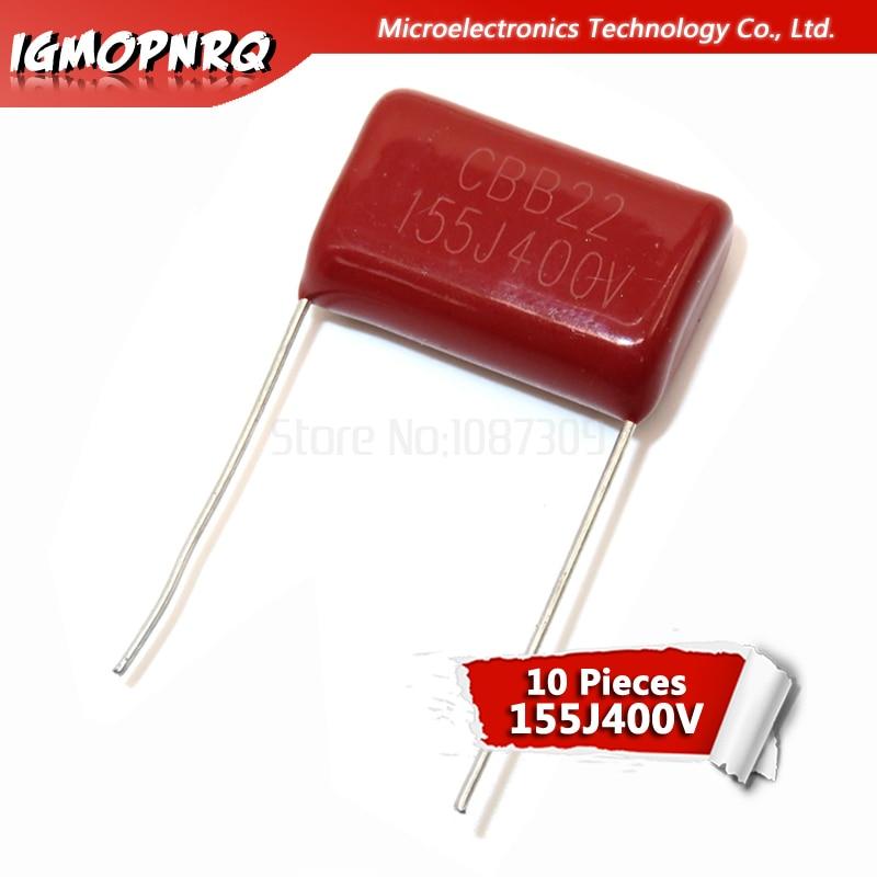 10PCS 400V155J 1.5UF Pitch 20MM 400V 155 1500nf Igmopnrq CBB Polypropylene Film Capacitor New