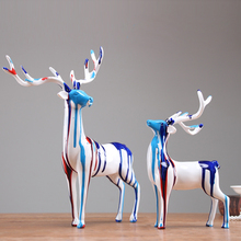 High quality Europe resin deer Carving Handicraft Furnishing Articles Home Decor Figurines & Miniatures Desktop Arts and Crafts
