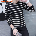 New Fashion 2016 Autumn Mens Hoodies&Sweatshirt 100% Cotton Fleece stripe Causal Unique Print Mens Clothing Sportswear G034