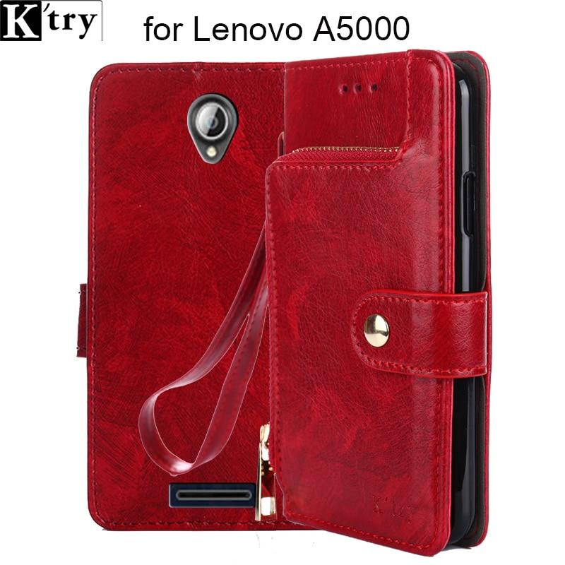 Pour Lenovo a5000 cas couverture K'try de luxe flip en cuir cas de couverture arrière Vintage Style capa Coque Pour Lenovo un 5000