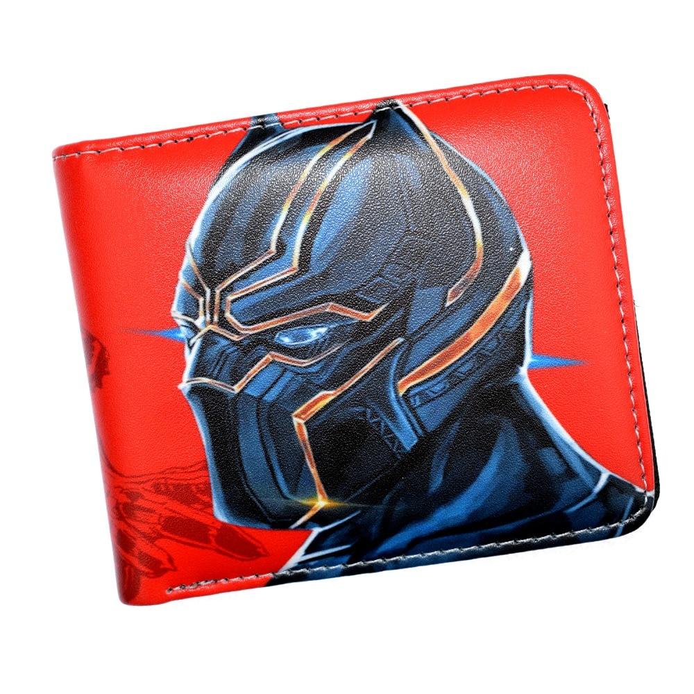 лучшая цена FVIP Anime Comics Hero Black Panther Short Wallet Bi-Fold Wallet in Men's Purse