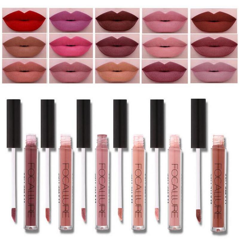 2017 Brand Focallure Lipstick Matte Red Lips Makeup Lip Gloss Tint