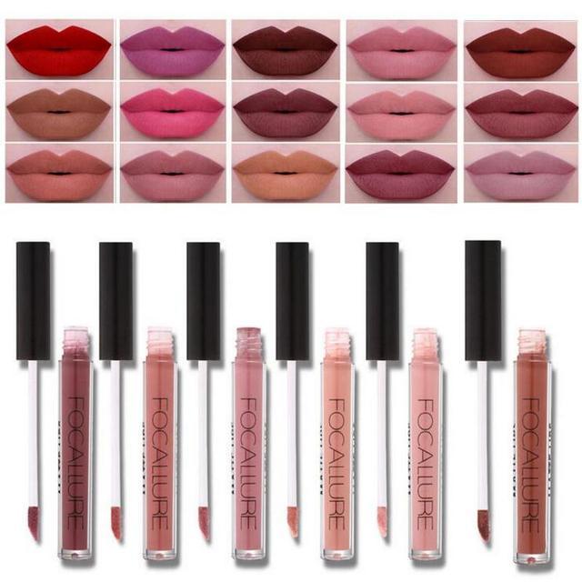 Célèbre 2017 Marque FOCALLURE Rouge À Lèvres Mat Rouge Lèvres Maquillage  TE01