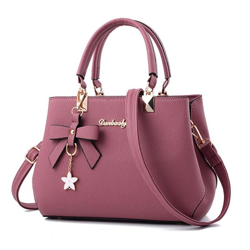 Women Bags Crossbody-Bag Messenger Sweet Driga Bow Plum-Bow Elegant New