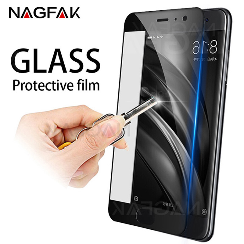 NAGFAK Anti-Scratch 0.26mm Tempered Glass For Xiaomi Mi6 Mi Max 3 2 Screen Protector Mi 6 5 5X 5S Plus Protective Glass