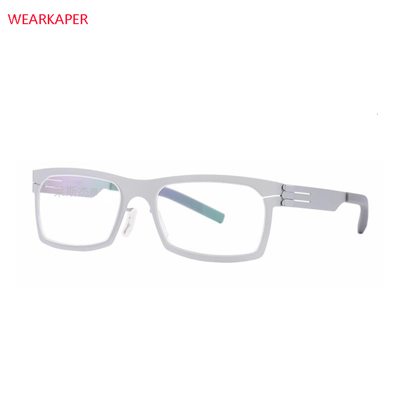 WEARKAPER Glasses Frames IC Germany Unique No Screw Design Eyeglasses Frames Ultra Light Ultra Thin Men Myopia Spectacle Frame