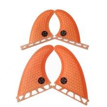 Future fin G3+GL Quilhas fiberglass honeycomb surfboard Orange/blue quad free shipping