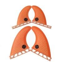 Zukunft fin G3 + GL Quilhas fiberglas honeycomb surfbrett fin Orange/blau quad fin freies verschiffen|Surfen|   -
