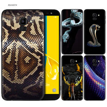 Silicone Case For Samsung Galaxy J4 J6 A6 A8 Plus A7 A9 J8 2018 A5 2017 Soft Cover Shell Fashion Luxury Snake(China)