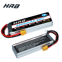 HRB Lipo 3S Battery 11.1V 4000mAh 60C MAX 120C XT60 T DEAN TRX For TRX RC Car/Truck, Quadcopter Drone Helicopter Align Trex 500