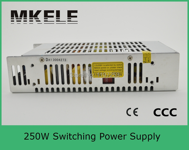 ФОТО universal single output type reliable 220v ac to dc 5v 250w power supply S-250-5 40a power supply aluminum case