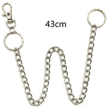 Stainless Steel long Punk Hip-hop Trendy Belt Waist Chain Male Pants Chain Men Jeans Punk Silver Metal Trousers Keychain(China)