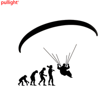Fashion Human Evolution Paragliding Car Stickers Cartoon Motorcycle Vinyl Decals