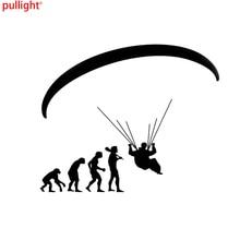 Fashion Human Evolution Paragliding Car Stickers Cartoon Motorcycle Vinyl Decals