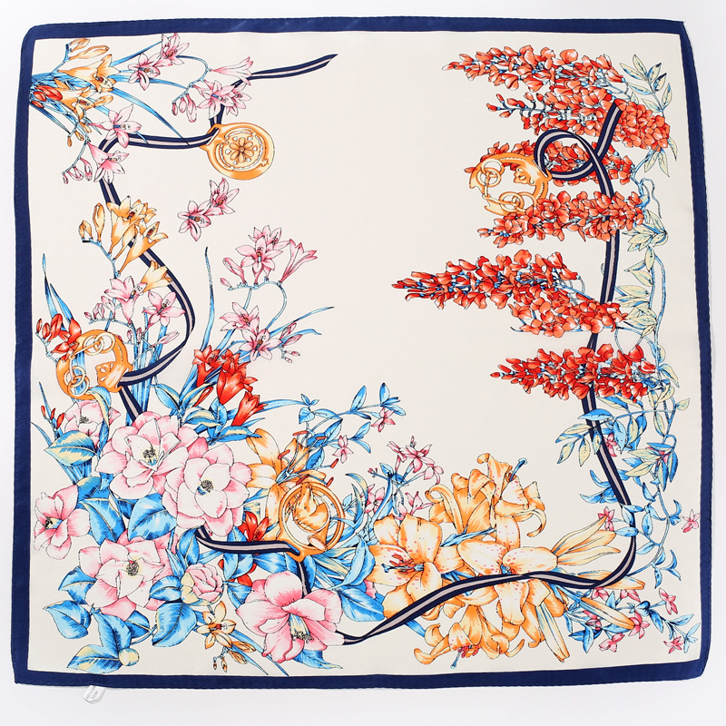 2018 New 100% Silk Printing Scarf Scarf Occupation Women Dress Bank Global Airline Stewardess Scarf 52*52 Obaadtf Scarf