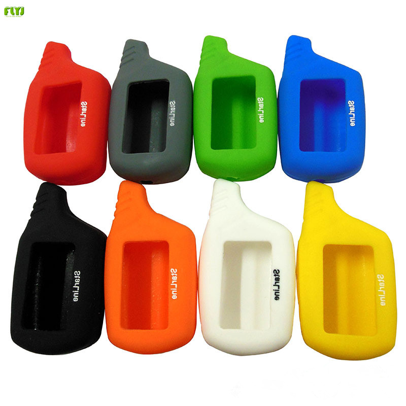 Silicone Key Case for Vehicle Security 2 Way Car Alarm System Russia Starline B9 A91 A61 B6 LCD Remote controller Key Fob Chain цена