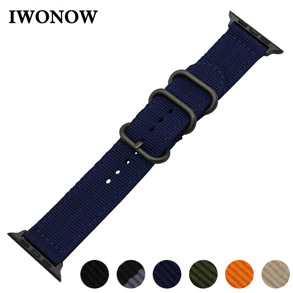 Premium Nylon Watchband for 38mm 40mm 42mm 44mm iWatch Apple Watch Series 1 2 3 4 Sports Band Fabric Strap Canvas Wrist Bracelet mu sen woven nylon band strap for apple watch band 42mm 38 mm sport fabric nylon bracelet watchband for iwatch 3 2 1 black