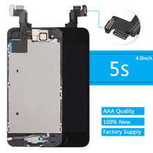 Full LCD For iPhone 5s Display lcd Touch Screen Digitizer +front camera speaker Assembly Replacement Black