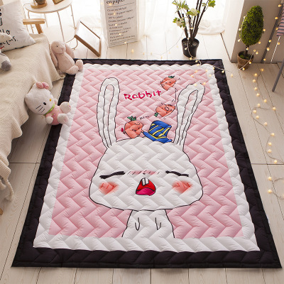 Svetanya Cartoon Sika deer Print Kids Floor Carpet Rectangle Bedroon Rug baby Crawling Mats 57x76x0.6