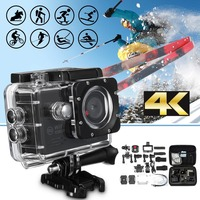 4K 2.0 LCD HD 1080P 16MP Waterproof Wifi Sport Action Camera Cam DV Digital Camcorder Storage Case