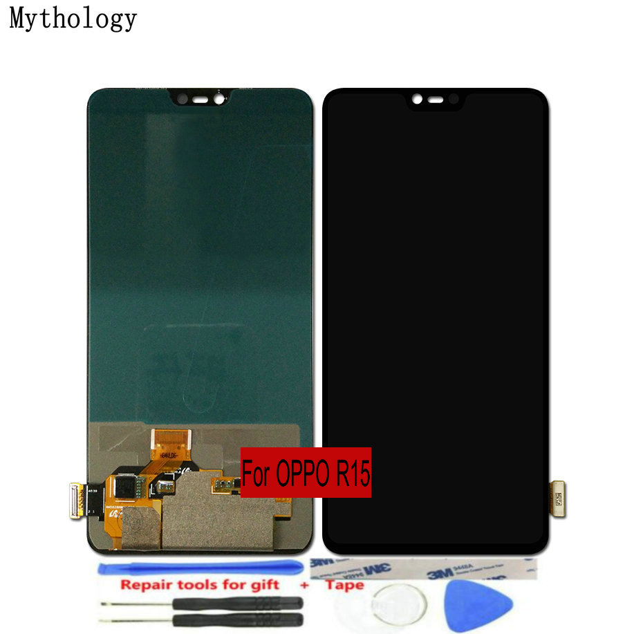 "For OPPO R15 LCDs Touch Screen 6.28""Replacement Assembly Display Mobile Phone Panels with Repair Tools Mythology(China)"