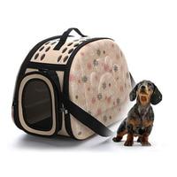 Venta caliente Plegable Suave EVA Pet Carrier Cachorro Perro Gato Al Aire Libre Bolso de viaje para Pequeño Perro Mascotas Perrera Portátil 3 colores