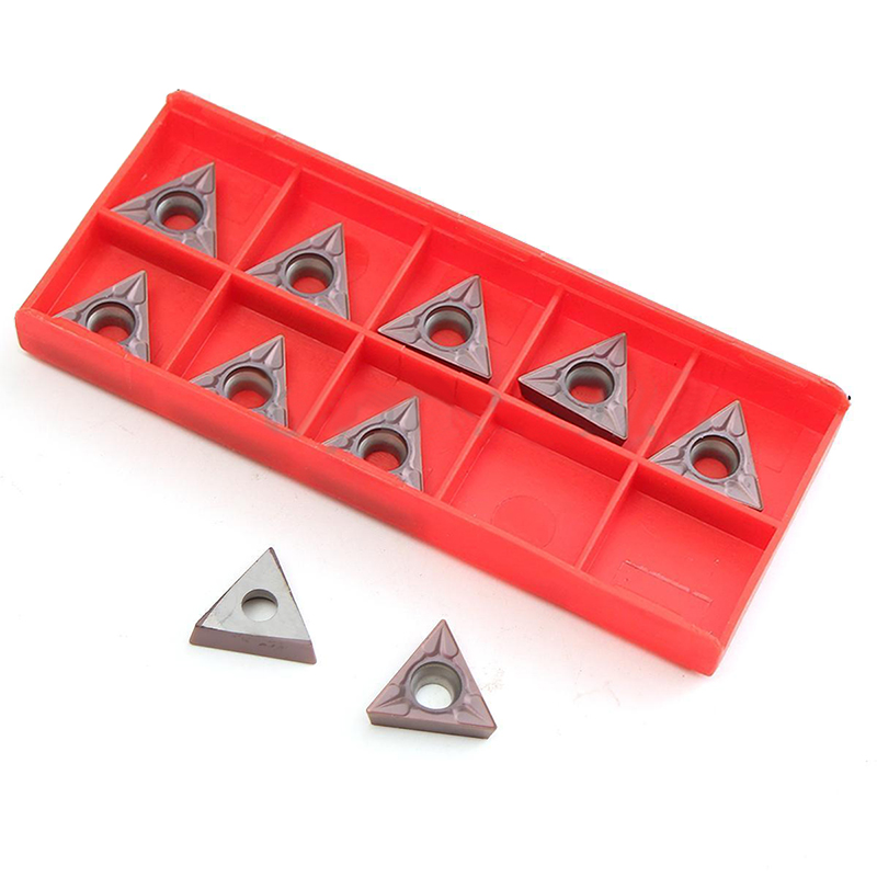 10pcs TCMT16T304 VP15TF Carbide Inserts Tungsten Steel Lathe Turning Tools Insert Set with Box 10pcs tungsten steel tcmt16t304 vp15tf carbide inserts set for lathe turning tool holder