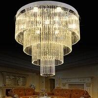 מעגלים רב LED נברשות מודרניות אורות נברשת בדולח K9 יוקרה הניצוץ קריסטל Drop אור מתקן תאורה פנימית בבית