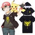 Summer New Pokemon T Shirt Anime Pika Men T-Shirts Pikachu Boy T Shirt Cotton Short Sleeve Plus Size Boy Tees Tops