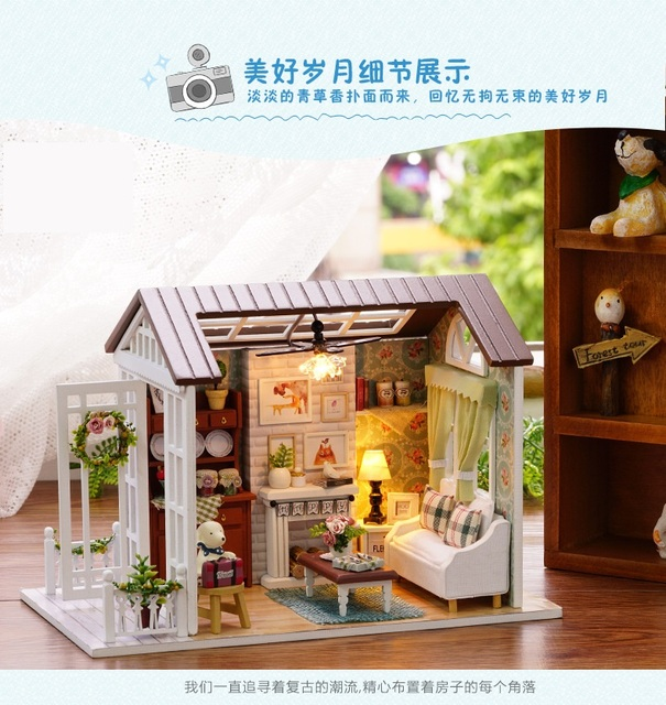 New Miniature CUTE Doll House Model Forest Building Kits Creative