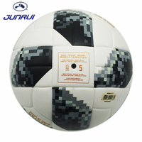 JUNRUI High Quality 2017 Official Size 5 Football Ball PU Granule Slip Resistant Football Match Training