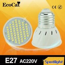 1Pcs E27 Spotlight LED lamp 220V 2835 5050 SMD Heat-resistant Fireproof 48LED 60LED 80LED Bulb For Chandelier light