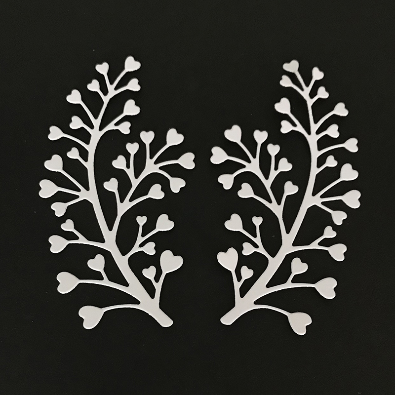 Beautiful Love Branches Metal Cutting Dies for Scrapbooking DIY Album Embossing Folder Paper Cards Maker Template Decor Stencils in Cutting Dies from Home Garden