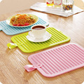 Silicone Insulation Hot Pan Heat Resistant Pad Non-slip Drain Tableware Mat