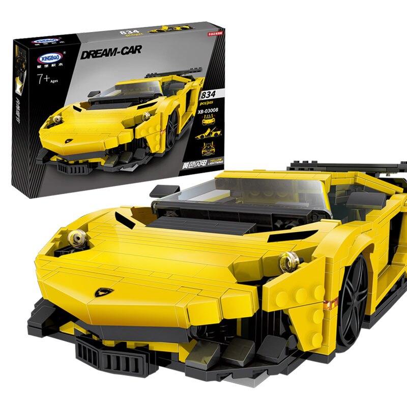 Жовтий флеш-гоночний автомобільний - Конструктори та будівельні іграшки