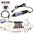 Russia HILDA  400W Mini Electric Drill with 6 Position Variable Speed Dremel Rotary Tools Mini Grinder Grinding Machine